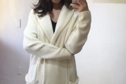 冬の楽しみがまた一つ…暖か圧縮ニットフードロングコート♡