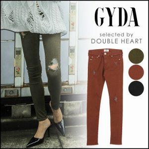 GYDA ジェイダ BACKRIPPED カラースキニーパンツ071750701101