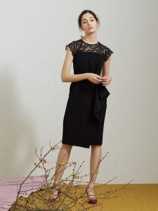 LADY ラッフルリボンタイトドレス LAGUNAMOON