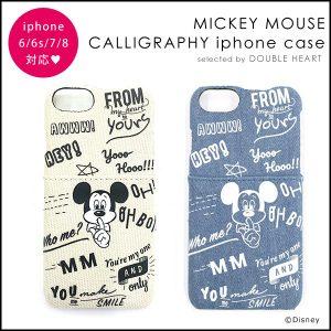 ミッキーマウス カリグラフィー iPhoneケース