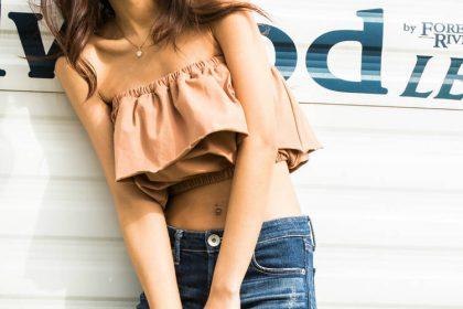GYDA (ジェイダ )★再生産決定★SIDE RIPEED スキニーデニムパンツ