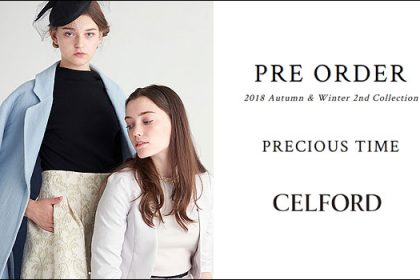 【CELFORD】2018 autumn&winter 2nd Collection
